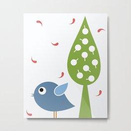 Little Birdie Metal Print