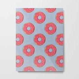 FAST FOOD / Donut - pattern Metal Print