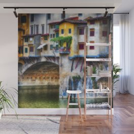 Small Balcony on Ponte Vecchio Wall Mural