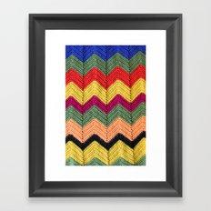 Rainbow Chevron Afghan Framed Art Print