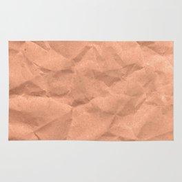 Kraft paper. crumpled paper Rug