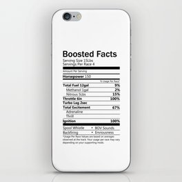 Boosted facts iPhone Skin