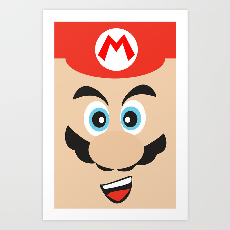 Super Mario Bros Nes Art Print By Jagraphic Society6