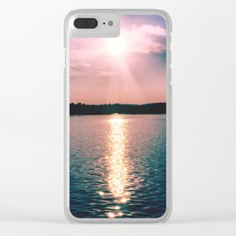 Sunset on the Susquehanna River Clear iPhone Case