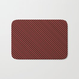 Aurora Red and Black Stripe Bath Mat
