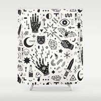 witchcraft Shower Curtains featuring Witchcraft II by LordofMasks