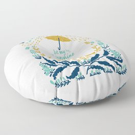Be my sunshine - folk art illustration Floor Pillow