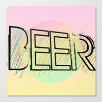 beer Canvas Prints featuring Beer! by Bunhugger Design