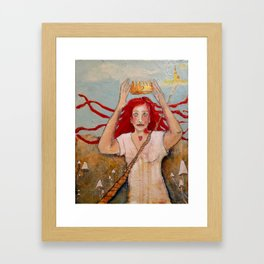 Crowning Herself Framed Art Print