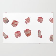 Body parts new water color Rug