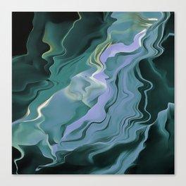 Teal Turbulence Canvas Print
