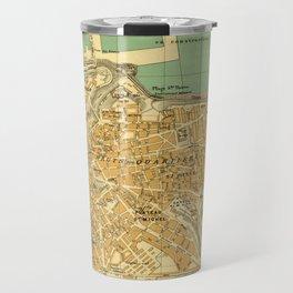 Vintage Map of Oran Algeria (1913) Travel Mug