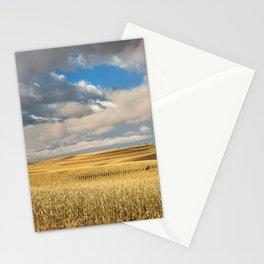 Iowa in November - Golden Corn Field in Autumn Stationery Cards
