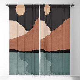 Minimal Abstract Art Landscape 17 Blackout Curtain