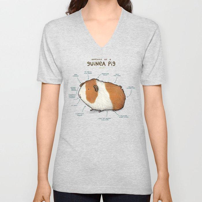Anatomy of a Guinea Pig Unisex V-Neck