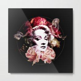 Marlene With Flowers Metal Print