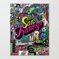san francisco Canvas Prints featuring San Francisco by Chris Piascik
