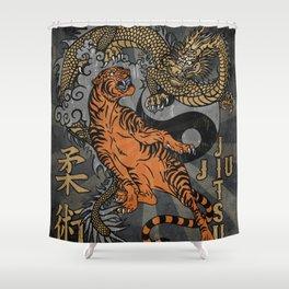Jiu Jitsu Tiger and Dragon Art, Yin Yang, Martial Arts, Bjj Mma, Japanese Shower Curtain