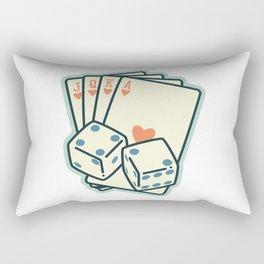 Luck be a Lady Rectangular Pillow