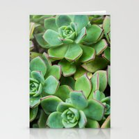 succulents Stationery Cards featuring Succulents by Michelle McConnell