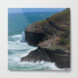 Ocean from Kilauea Lighthouse Metal Print