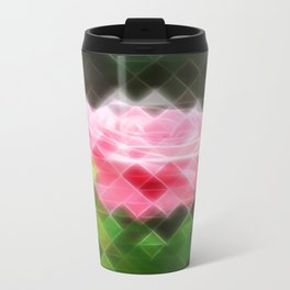 Pink Roses in Anzures 3 Art Triangles 2 Travel Mug