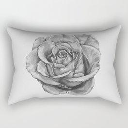 Black And Grey Rose Rectangular Pillow