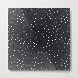 Snow polka dot Metal Print
