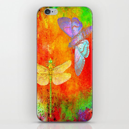 The Dragonfly and the Butterfly iPhone & iPod Skin