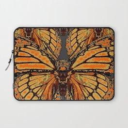RUSTY-ORANGE CREAMY MONARCH BUTTERFLIES ABSTRACT Laptop Sleeve
