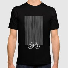 Red Bike by Friztin Mens Fitted Tee MEDIUM Black