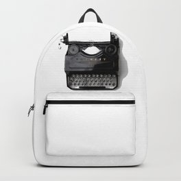Typewriter (Black and White) Backpack