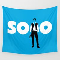 han solo Wall Tapestries featuring Han Solo by Vector Vectoria