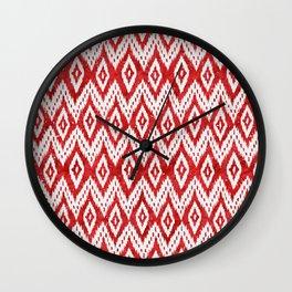 Bohemian Christmas - Ruby Wall Clock