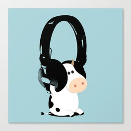La vache mélomane Canvas Print