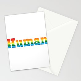 Human LGBT Pride Rainbow Flag Stationery Cards