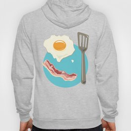 bacon & eggs, blue Hoody