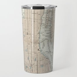 Vintage Map of New York City (1893) Travel Mug