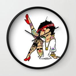 Betty Boop as A Tattooed Lady Wall Clock