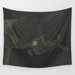 All lines lead to the...Rhino Beetle Wall Tapestry