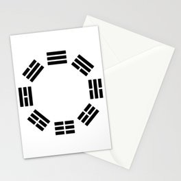 Black Hexagon I ching Feng Philosophy Stationery Cards