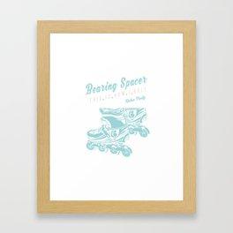 Bearing Spacer Rollerblades Skates Framed Art Print