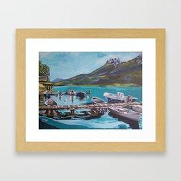 Lake Annecy Framed Art Print