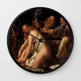 "Jacob Jordaens ""Susanna and the Elders"" Wall Clock"