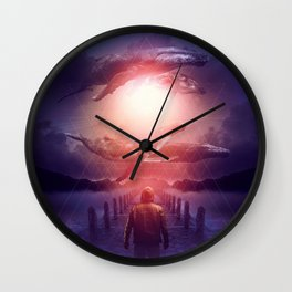 The Space Between Dreams & Reality Wall Clock