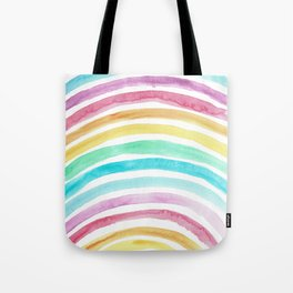 Pastel Watercolour Rainbow art Tote Bag