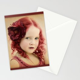 Mila as a Vintage Rose Stationery Cards