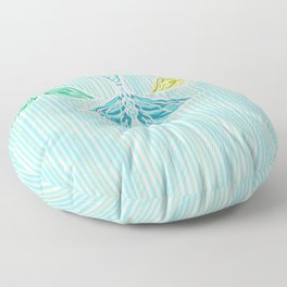 Mermaids and Stripes Floor Pillow