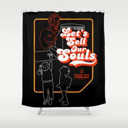 Let's Sell Our Souls / Black Magic / Devil Shower Curtain