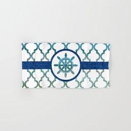 Ship Helm: Tropical Water Moroccan Pattern Hand & Bath Towel